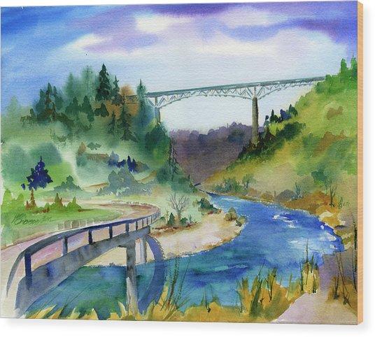 Foresthill Bridge #2 Wood Print