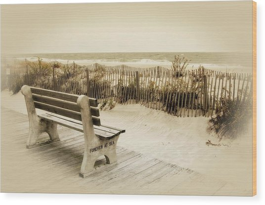 Forever At Sea - Jersey Shore Wood Print