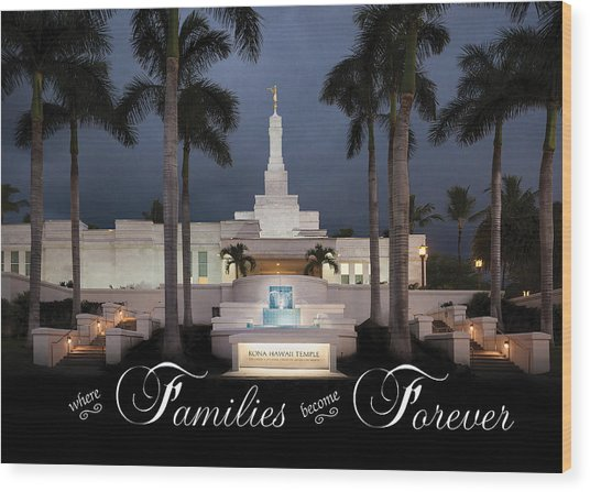 Forever Families Wood Print