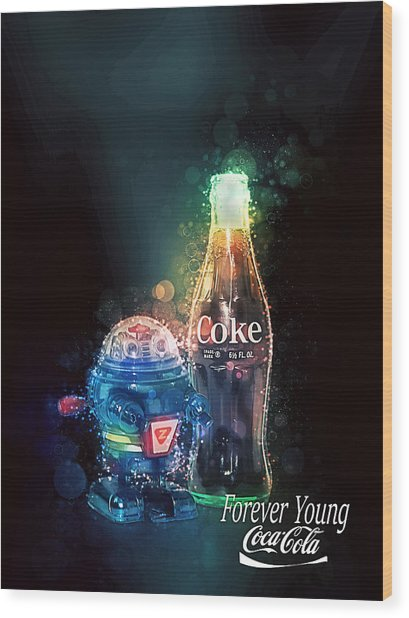 Forever Young Coca-cola Wood Print