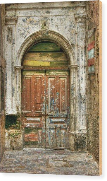Forgotten Doorway Wood Print