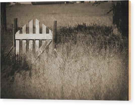 Forgotten Gateway Wood Print