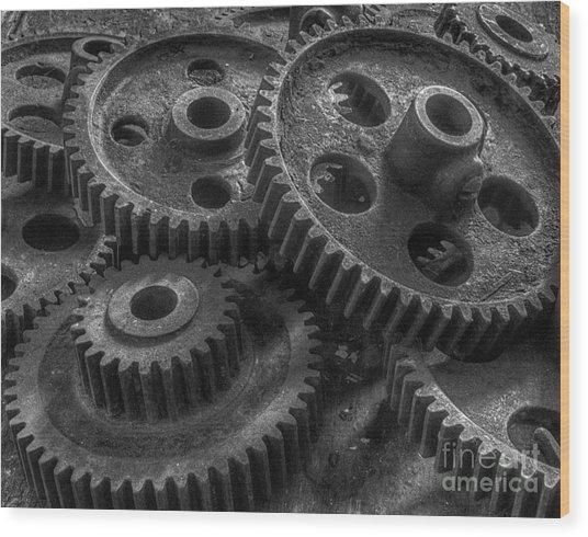 Forgotten Gears Wood Print