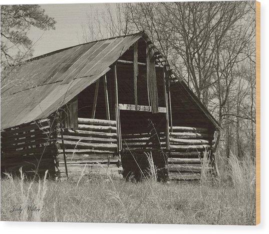 Forgotten Hay Barn Wood Print
