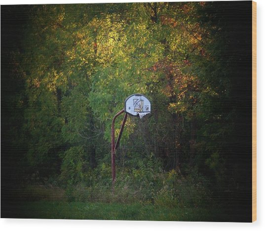 Forgotten Hoop Wood Print