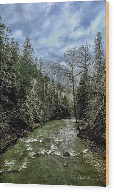 Forgotten Mountain Wood Print