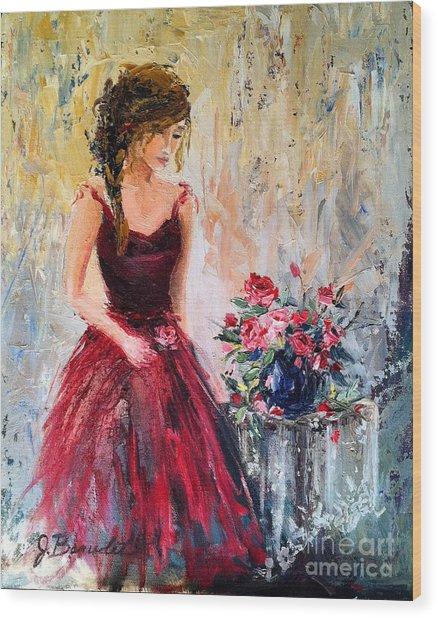 Forgotten Rose Wood Print