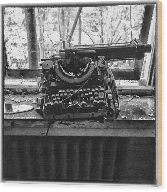 Forgotten Words Wood Print