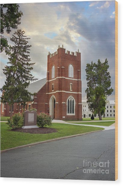 Fork Union Military Academy Wicker Chapel Sized For Blanket Wood Print