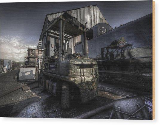 Forklift Wood Print
