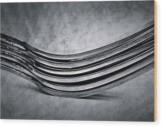Forks - Antique Look Wood Print