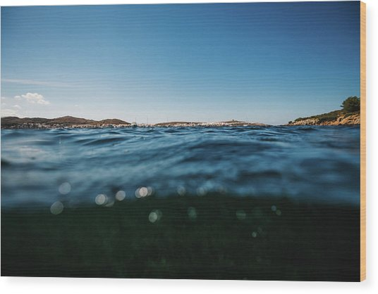 Fornells Bay Wood Print