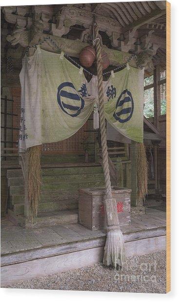 Forrest Shrine, Japan 4 Wood Print