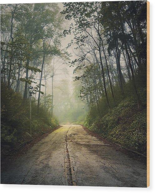 Forsaken Road Wood Print