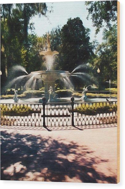 Forsyth Park Fountain - Savannah - Ga Wood Print
