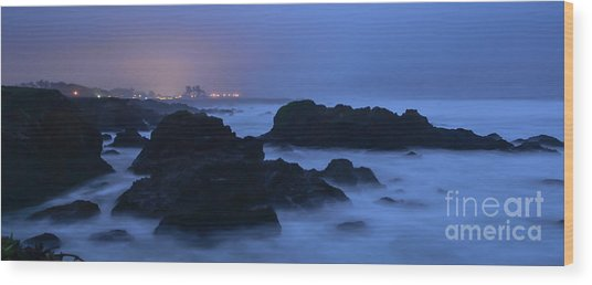 Fort Bragg Long Exposure Seascape I Wood Print