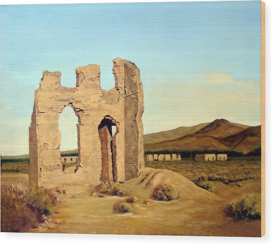 Fort Churchill Nevada Wood Print by Evelyne Boynton Grierson