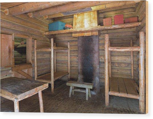 Fort Clatsop Living Quarters Wood Print