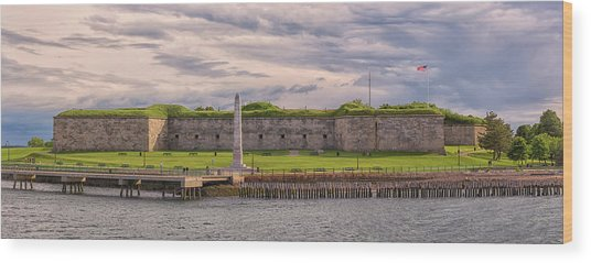 Fort Independence At Castle Island Wood Print