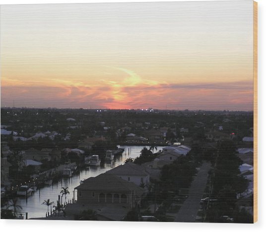 Fort Lauderdale Sunset Wood Print