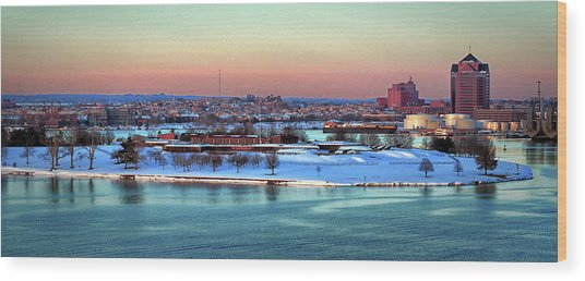 Fort Mchenry Shrouded In Snow Wood Print