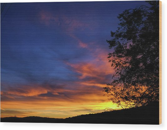 Fort Mohave Arizona Sunset Wood Print