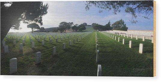 Fort Rosecrans National Cemetery Wood Print