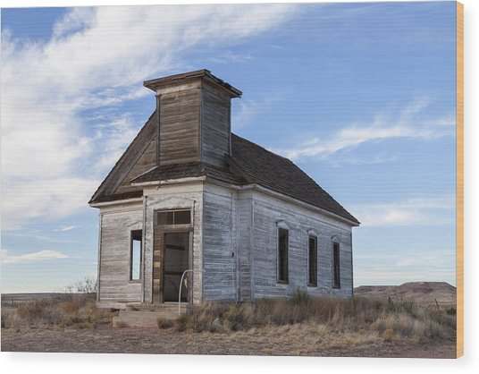 Fort Sumner - Abandoned Church Wood Print