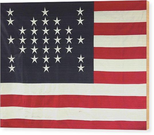 Fort Sumter Flag Wood Print