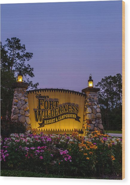 Fort Wilderness Resort And Campground Wood Print