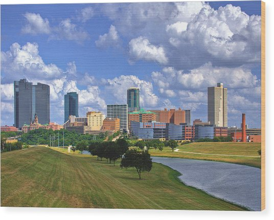 Fort Worth #1 Wood Print