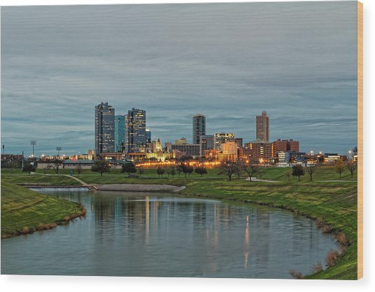 Fort Worth Color Wood Print