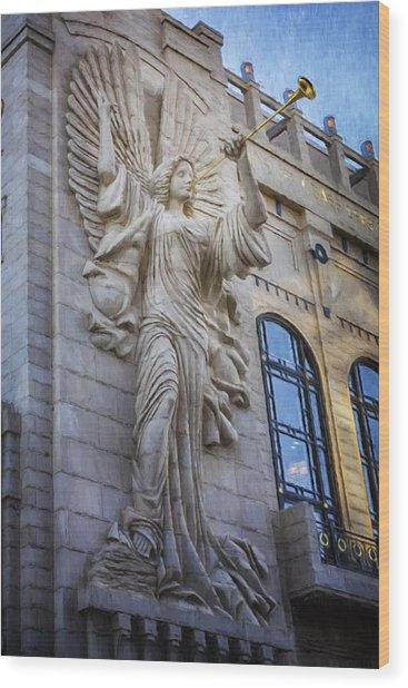 Fort Worth Impressions Bass Hall Angel Wood Print