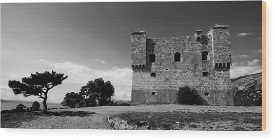 Wood Print featuring the photograph Fortress Nehaj In Senj by Davor Zerjav