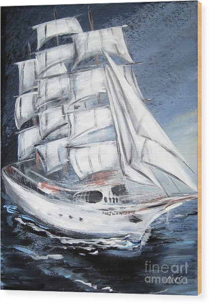 Fortunate. Sailing Ship Wood Print