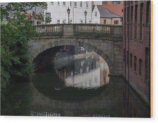 Foss Bridge - York Wood Print