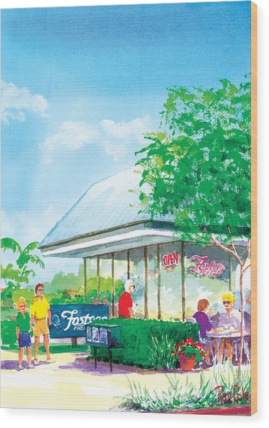 Fosters Freeze Wood Print by Ray Cole