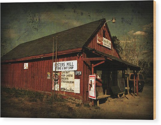 Fosters Mill Store Wood Print