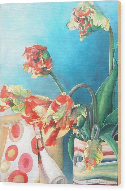 Foulard Wood Print by Muriel Dolemieux
