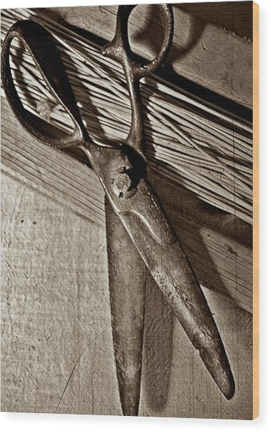 Found Objects - Scissors Wood Print