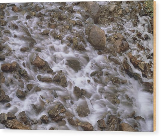 Fountain Creek Up Close  Wood Print