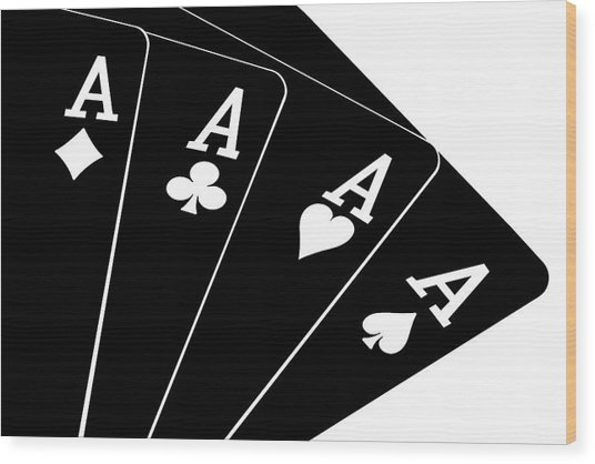 Four Aces II Wood Print