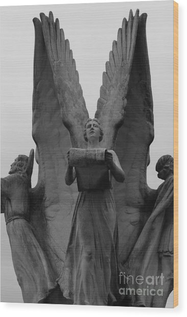 Four Angels Wood Print