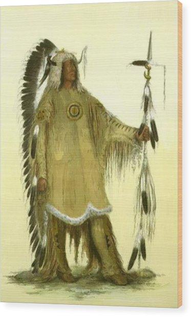 Four Bears Mandan Chief 1833 Wood Print