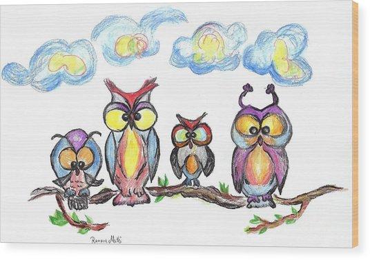 Four Friends  Wood Print