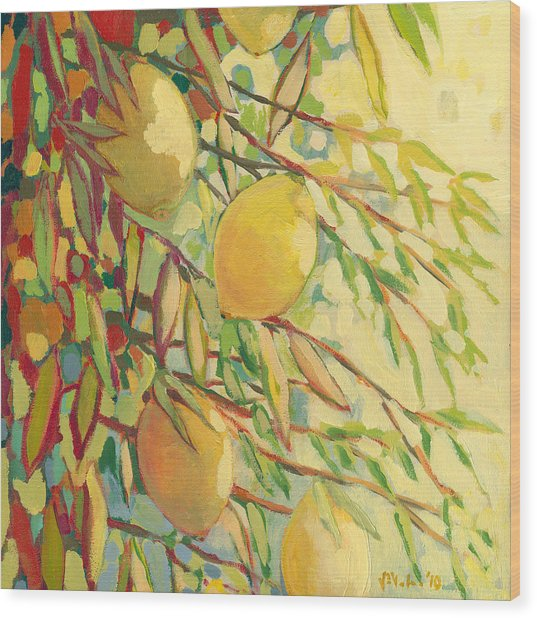 Four Lemons Wood Print