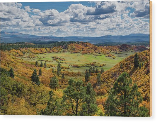 Four Mile Road Peak Color Wood Print