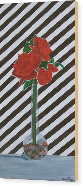 Four Roses Wood Print by Marcia Paige