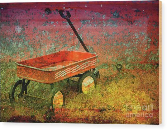 Four Ten To Red Wood Print