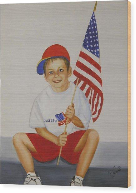Fourth Of July Wood Print by Joni McPherson